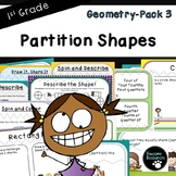 Partition Shapes-Pack 3 (First Grade-1.G.3)