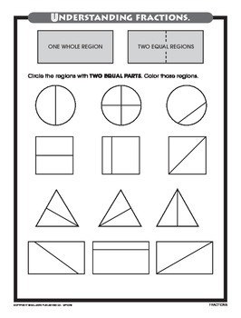 Partition Shapes Into Equal Parts (CCSS 2.G.A.3)