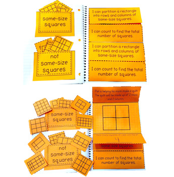 Partition a Rectangle into Equal Squares: 2.G.A.2 Common Core Math 2nd Grade