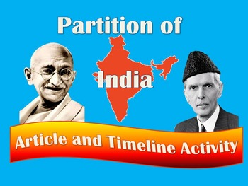 Partition of India 90 Minute Lesson