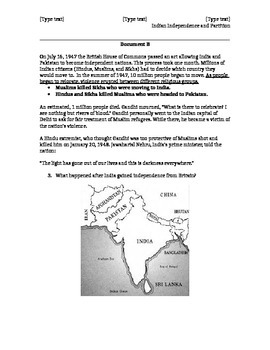 Partition of India (Leveled) Documents