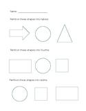 Partition shapes