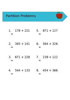 Partitioning Addition