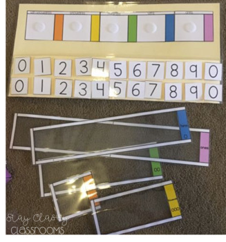 Partitioning BUNDLE - Partitioning Peekers & Task Cards