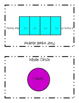 Partitioning Circles and Rectangles  2nd Grade Common Core