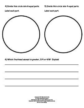 Partitioning Circles to Find Equivalent Fractions