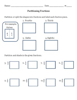 Partitioning Fractions