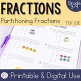 Partitioning Fractions - Equally Sharing Fractions Activities