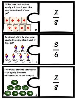 Partitioning Fractions Matching Game