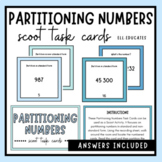 Partitioning Numbers Scoot Task Cards