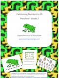 Partitioning Numbers to 20 Math Center Activities
