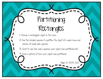Partitioning Recatangles Around the Room Activity (2.G.2)