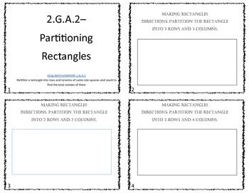 Partitioning Rectangles CCSS.Math.Content.2.G.A.2