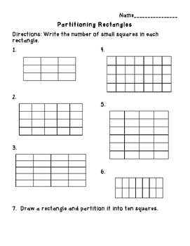 Partitioning Rectangles Practice