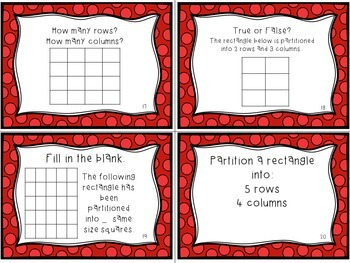 2.G.2 Task Cards- Partitioning Rectangles