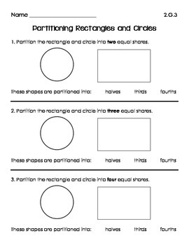 Partitioning Rectangles and Circles