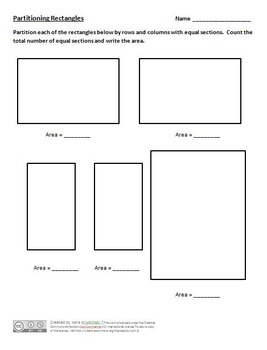 Partitioning Rectangles into Rows and Columns Lesson Plans