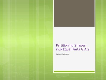 Partitioning Shapes  PowerPoint