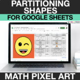 Partitioning Shapes 3rd Grade Digital Mystery Picture Pixel Art