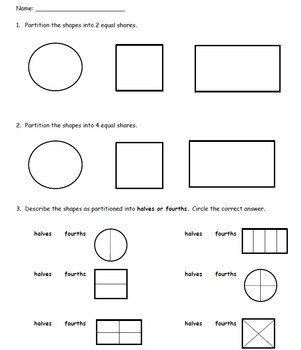 Partitioning Shapes Assessment - 1.G.A.3 (pdf file)