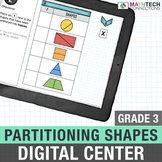 3rd Grade Math Distance Learning   Partitioning Shapes Mat
