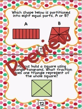 Partitioning Shapes Task Cards