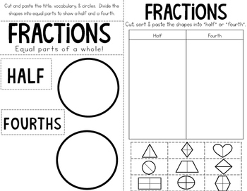 Partitioning Shapes: Halves & Fourths