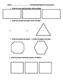 Partitioning Shapes Homework Worksheet