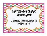 Partitioning Shapes Review Game - 3.G.2