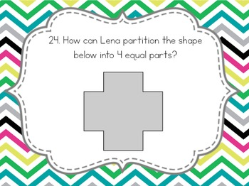 Partitioning Shapes Task Cards {3.G.2}