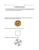 Partitioning Shapes Word Problems