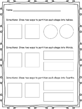 Partitioning Shapes and Fractions