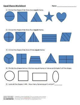 Partitioning Shapes into Equal Shares Lesson Plans - 2nd Grade