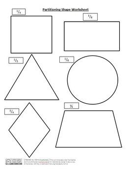 partitioning shapes into equal shares lesson plans 3rd grade tpt. Black Bedroom Furniture Sets. Home Design Ideas