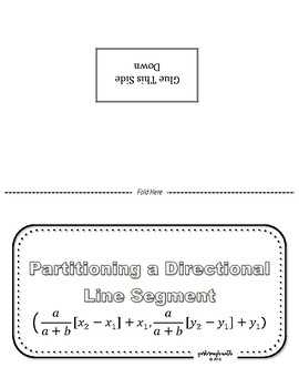 Partitioning a Directional Line Segment