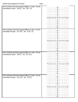 Partitioning line segments