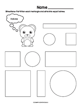 Partitions Common Core Worksheet