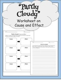 Partly Cloudy PIXAR short worksheet on Cause and Effect