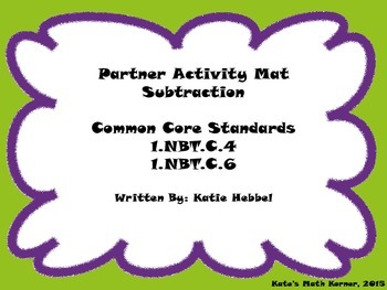 Partner Activity Mat- Subtraction