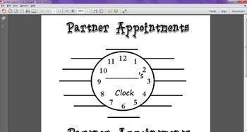 Partner Appointment Clocks