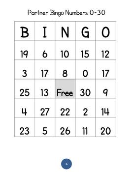 Partner Bingo #s 1-30