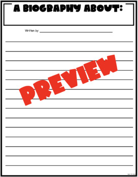 Partner Biography Writing Assignment