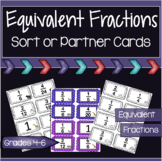 Equivalent Fractions Sort and Partner Cards