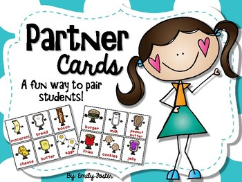 Partner Cards - A fun way to pair students