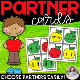 Partner Cards: Apple Cards for Choosing Partners {Music Symbols}