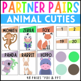 Partner Cards For Pairing Animal Cuties
