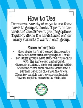 Partner Cards - Just Find Your Match!