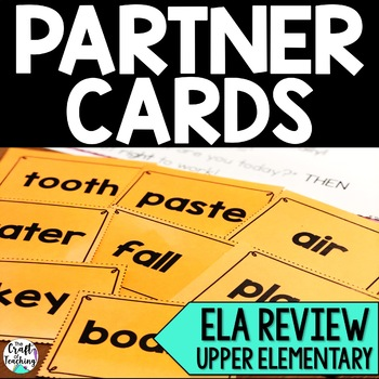 Partner Cards Language Arts Review