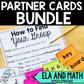 Partner Cards BUNDLE Language Arts and Math