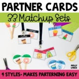 Partner Cards - Partner Pair Ups for Student Groups